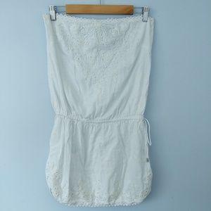 Cynthia Rowley Tube Top Cover Up Dress Beadded